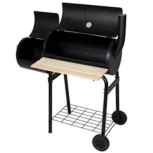 Broil-master - Barbecue fumoir à charbon de bois - 2 chambres de...