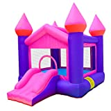 doctor dolphin Inflatable Pink Bouncy Castle House Kids Party Bouncy House with Air Blower for Kids Party