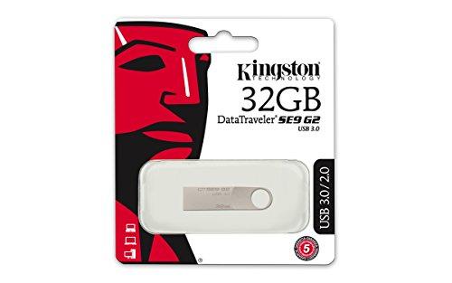 Kingston DTSE9G2/32GB - Memoria USB 3.0, 32 GB, Plateado