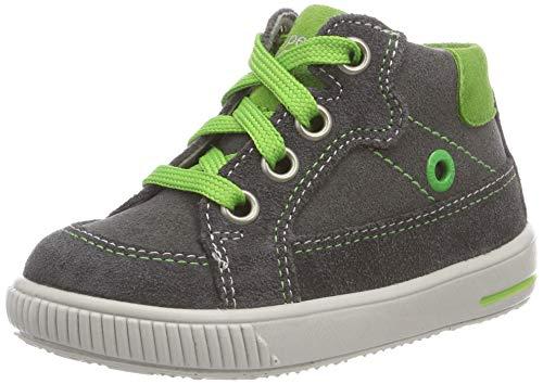 Superfit Baby Jungen Moppy Sneaker, Schwarz (Grau/Grün 20), 19 EU