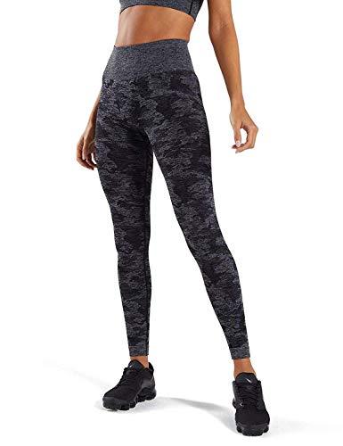 iWoo Sporthose Damen Yogahose Laufhose Fitnesshose Leggins Yoga Sport Leggings Tights für Damen M