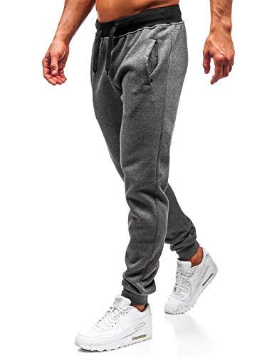 BOLF Hombre Pantalón De Chándal Jogger Pantalones Deportivos Estilo Deportivo J.Style AK11-1 Gris Grafito M [6F6]