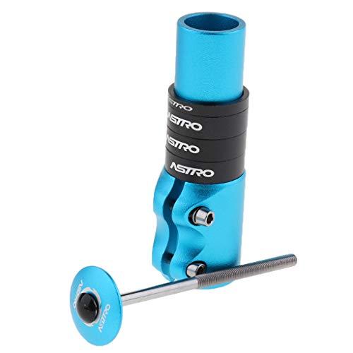 Toygogo Fahrradlenker Verlängerung 120mm Lenkererhöhung Vorbauverlängerung Vorbauerhöhung für MTB BMX - Blau