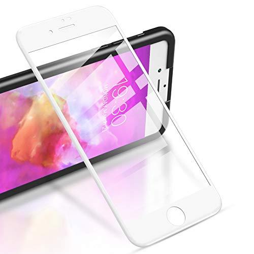 RIWNNI [2 Unidades Cristal Templado para iPhone 8/7/SE 2020, Cobertura Completa Protector...