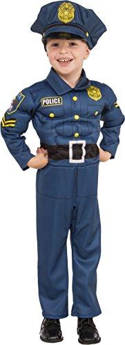 Rubies - Disfraz de policia para niño, talla 3-4 años (Rubies 510332-S)