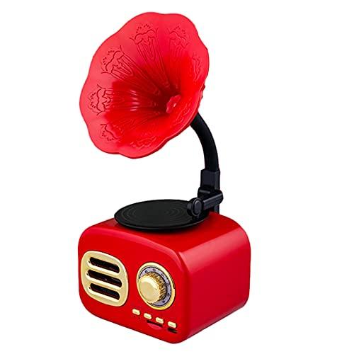 OUUUKL Tocadiscos Bluetooth, Tocadiscos de Vinilo Retro, Altavoces Estéreo admite Salida Salida RCA/Aux in/Auriculares Puerto USB Midi, Reproducción y Digitalización, Asas de Transporte