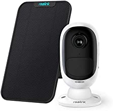 Reolink Outdoor Security Camera Wireless System Rechargeable Battery 1080P Video Night Vision Motion Detection, 2-Way Talk, Waterproof Support Google Assistant, Cloud Storage | Argus 2 + Solar Panel