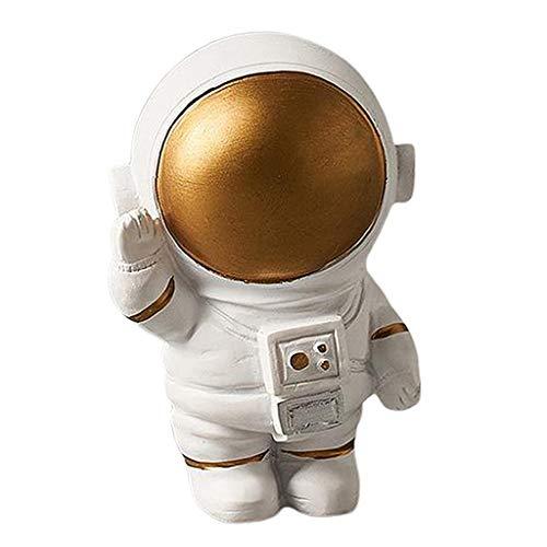 Estatuas de Astronautas Escultura Estatuilla Adorno Artesanía Casera Escritorio Decoración de Soporte - Astronauta de la onda, tal como se describe