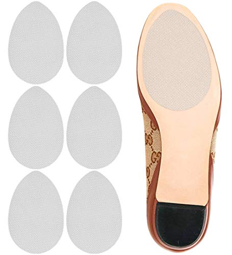 Dr. Shoesert Non-Slip Shoes Pads Adhesive Shoe Sole Protectors, High Heels Anti-Slip Shoe Grips (White - 3 Pairs)