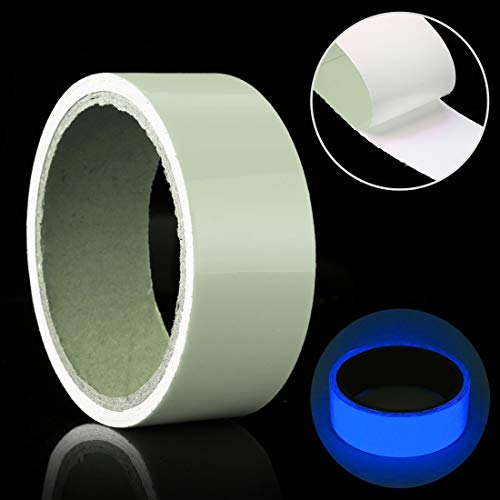 N/A Decoration Luminous Tape Green Glow in Dark Wall Sticker Luminous Photoluminescent Tape Stage Home Decoration, Size: 4cm x 3m (Color : Blue Light)