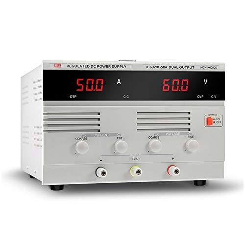 Précis MCH-K6050D Alimentation en courant continu 0-60V 50A Réglable en courant constant réglable Alimentation haute puissance Durable (Size : 110v)