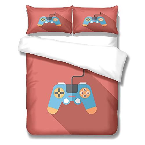 Kseyic Gamepad Juego de funda de edredón de 2/3 piezas, para jóvenes, juego de cama con funda de almohada, funda de edredón para jóvenes (L, 200 x 200)