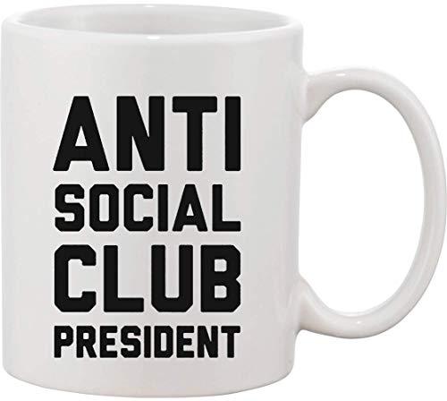 Anti Social Club Presidente Taza de cerámica bnft
