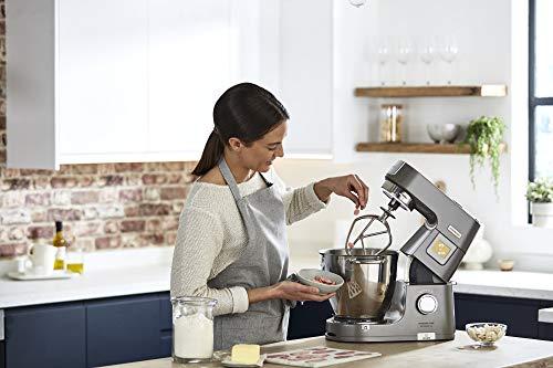 Kenwood Titanium Chef Patissier XL KWL90.034SI – Küchenmaschine mit integrierter Waage & 7 L Rührschüssel mit Wärmefunktion, 1400 Watt, inkl. 4-teiligem Patisserie-Set, silber - 7