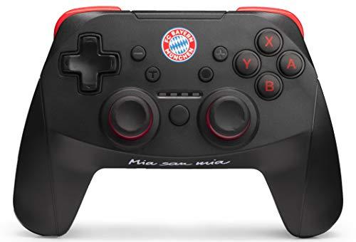 snakebyte FCB Wireless Pro Controller (NSW) - Offiziell lizenzierter FC Bayern München Bluetooth Gamepad Nintendo Switch / Analog Dual Joystick