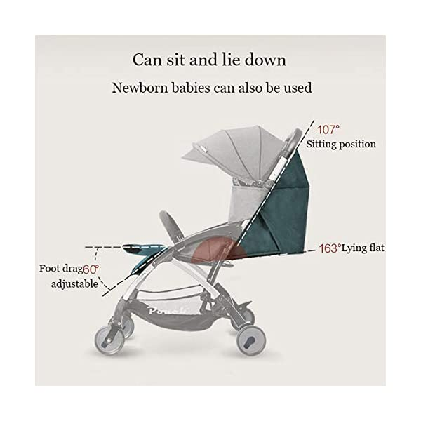 JXCC Baby Stroller Can Sit Reclining Simple Mini Aluminum alloy Stroller Folding Four Seasons Portable Shock absorber from 0-36 months,6.8kg,Multi-color optional -Safe And Stylish Blue JXCC 1. {Multi-angle adjustable}: You can sit down and adjust the angle from 0 to 180 degrees, suitable for all occasions. 2. {Easy to clean}: Remove the button for easy cleaning and detachable seat cushion 3. {Vibration}: two-wheel parallel connection, stable shock absorption, double front wheel suspension, two-wheel brake 2