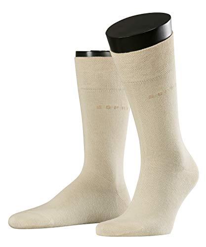 ESPRIT Herren Socken Basic Easy 2-Pack - 80% Baumwolle, 2 Paar, Elfenbein (Cream 4011), Größe: 39-42