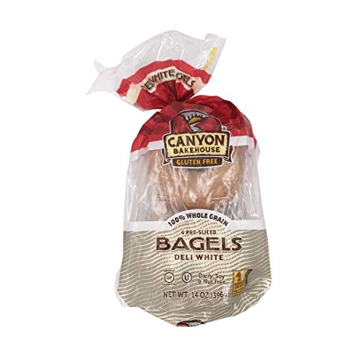 Canyon Bakehouse Gluten-Free Pre-Sliced Deli White Bagels, 14 Ounce
