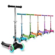 The perfect kids scooter for little ones - For children aged 3+ and 3Style adds the fun with our light-up LED Spin & Flash wheels for adding colour bursts to every scoot. Start them out slow - Our patented EasyGlide tilt-to-turn maneuvreing system an...