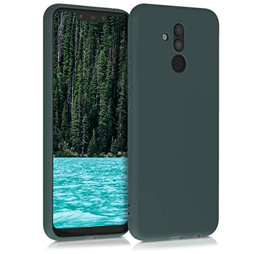 kwmobile Hülle kompatibel mit Huawei Mate 20 Lite - Hülle Silikon - Soft Handyhülle - Handy Hülle in Blaugrün