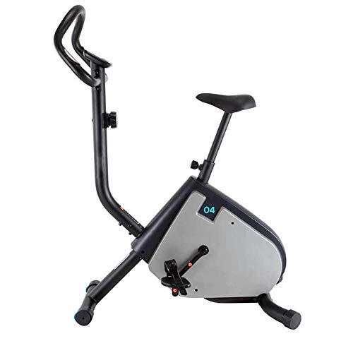 UIZSDIUZ Cubierta Plegable estacionario Ejercicio Vertical Cardio Entrenamiento Bici con Bandas de 8 Niveles de Resistencia y Brazo de Resistencia