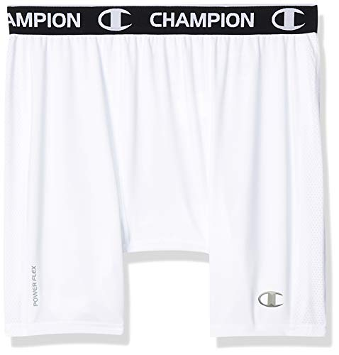 Champion Men's Powerflex Compression Short, White, M