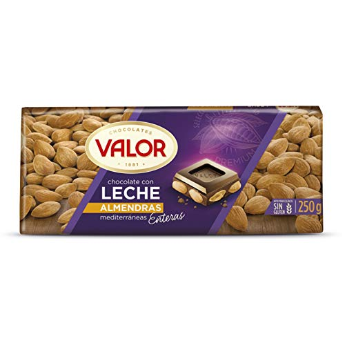 Chocolates Valor - Choholate con y Marconas Enteras - 250 g - [pack de 4]