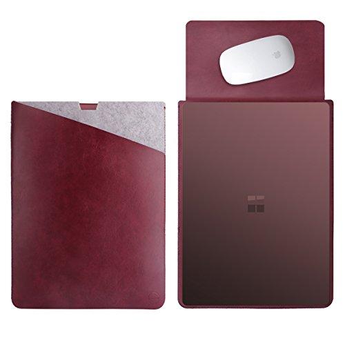 WALNEW 13.5 Microsoft Surface Laptop 1/2/3 13.5 Zoll Schutzhülle, Hülle, Case, Cover, mit Zwei-Taschen-Design mit Geschütztem Inneren & Externem Mousepad