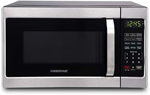 Farberware Classic FMO07AHTBKJ 0 7 Cu Ft 700 Watt Microwave Oven with LED Lighting Brushed Stainless product image