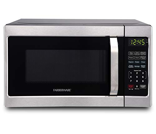 Farberware Classic FMO07AHTBKJ 0.7 Cu. Ft. 700-Watt Microwave Oven with LED Lighting, Brushed...