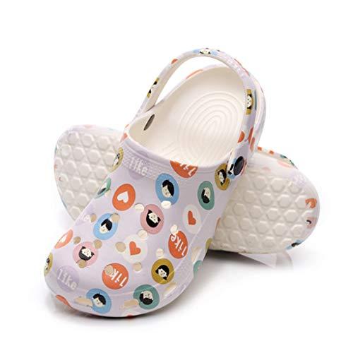 GAOYADS Zapatillas De Playa para Mujeres Verano, Zapatillas para Exteriores Al Aire Libre Sandalias Ligeras De Jardín Zapatos De Senderismo Zapatos De Playa De Agua (36-41) (Size : EUR 37)