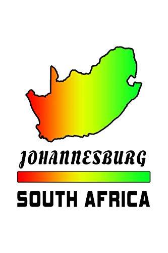 Johannesburg Südafrika Notizbuch: Schönes Deutschland Flaggen Notizbuch mit 120 karierten Seiten im A5 Format