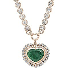 expansive necklace with diamonds