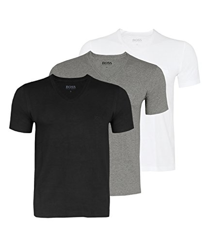Lot de 3 T-shirts noirs Hugo Boss - Pour homme - Multicolore - Large