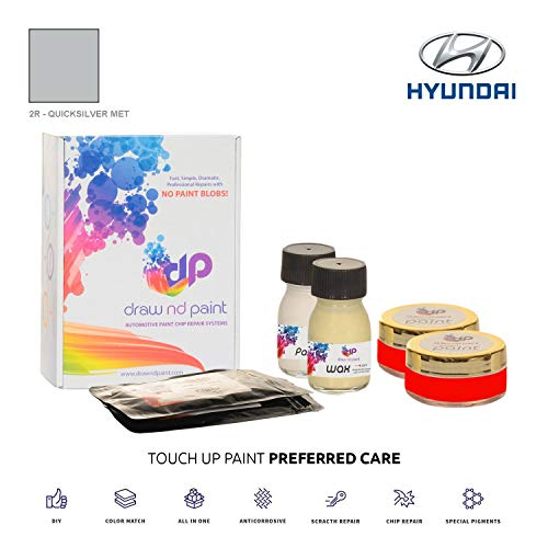 Price comparison product image DrawndPaint for / HYUNDAI Lavita / QUICKSILVER MET - 2R / TOUCH-UP PAINT SYSTEM EXACT-MATCH / PREFERRED CARE