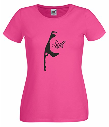 Damen T-Shirt Sylt Westerland pink M