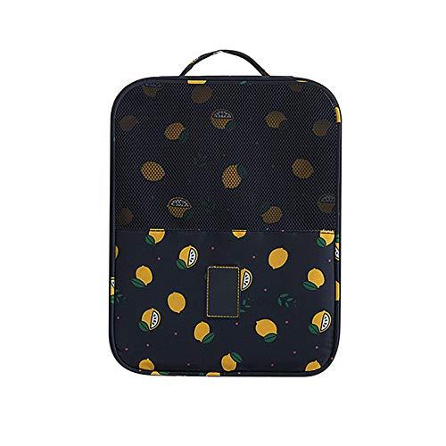 Bolsa de zapatos de viaje, portátil de tres capas, bolsa de zapatos impermeable y a prueba de polvo, adecuada para almacenamiento de viaje en familia y bailar.