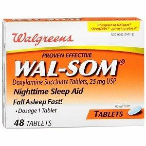 Walgreens Wal-Som Nighttime Sleep Aid Tablets 48 ea