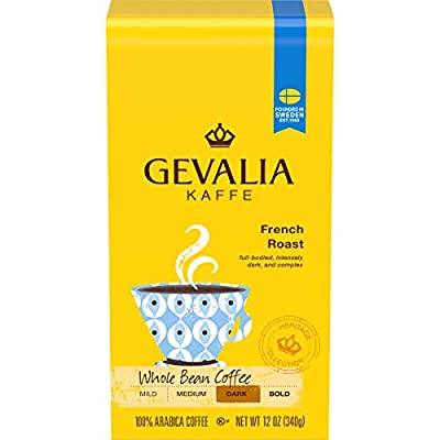 Gevalia French Roast Whole Bean Coffee (12 oz Bags, Pack of 6)
