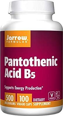 Jarrow Pantothenic Acid B5 (500mg, 100 Capsules) by Jarrow FORMULAS