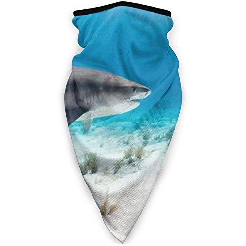 N/A Diademas para Exteriores,Pañuelo para Manos,Calentador De Cuello,Sea Tiger Shark Half Face Bufanda,Calentador De Cuello Al Aire Libre,Diadema A Prueba De Viento
