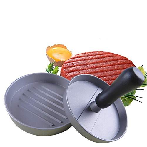 TONGDA Pressa per Hamburger Antiaderente, Macchina per Hamburger con manopola ergonomica Torta in Alluminio per Barbecue, Picnic, griglia per Hamburger Fatti in casa e Cucina Gourmet