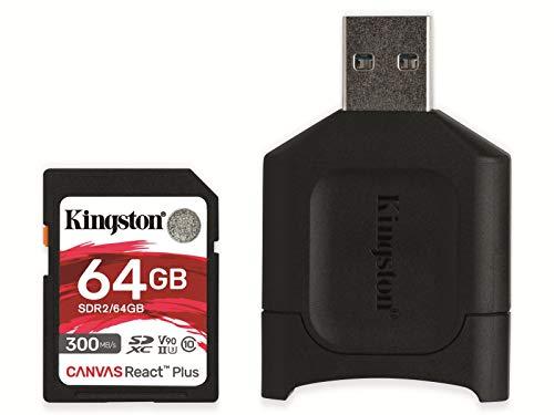 Kingston Canvas React Plus - Flash-Speicherkarte - 64 GB - SDXC UHS-II