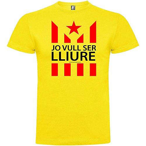 Camiseta Catalunya Jo Vull Ser LLiure Manga Corta Hombre
