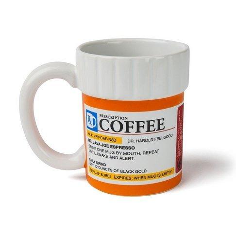 FPBS Medizin Design Rezept Kaffeetasse Medizin Kaffeetasse Keramiktasse Kaffeetasse Milchschale,kreatives Design, für Milch, Saft, Kaffee und Wasser 400ml