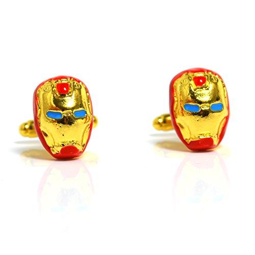 Iron Man Super Hero Manschettenknöpfe Design Men's Fashion Jewelry Manschettenknöpfe Shirt Geschenk Party Hochzeit