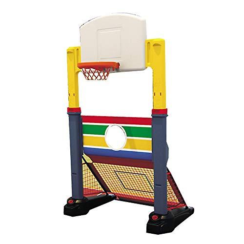 XINGLIAN Kinder Draussen Basketball-Ständer 2-in-1-Kombination Aus Basketballständer Und Fußballtor Höhenverstellbar 130-180 cm Backboard Net Hoop Set Schießstand Für Kinder Spielzeug