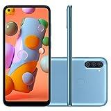 "Smartphone Samsung A11 Azul 64GB Android 10 Tela 6.4"" Camera 13 MP"