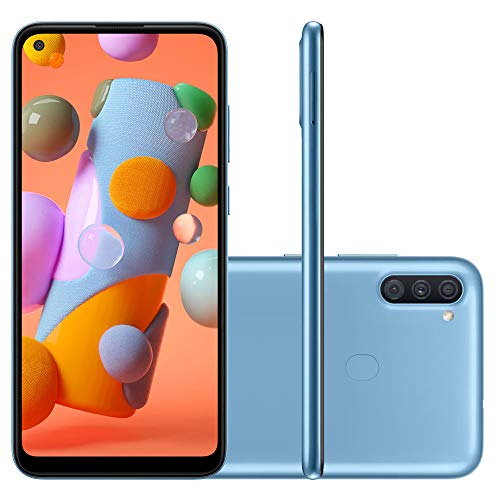 "Smartphone Samsung A11 Azul 64GB Android 10 Tela 6.4"" Camera 13 MP"
