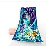 Personnalisé Grande Taille Bain Pokemon 140 cm x 70 cm Serviette de Douche Gant de Toilette Textile de Maison Voyage Main Visage Serviette en Microfibre pour Votre Famille